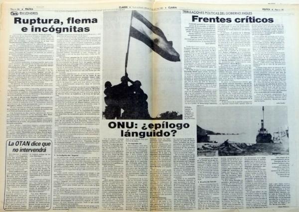 Clarín 3 de abril de 1982