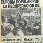 Tapa Clarín 3 de abril de 1982